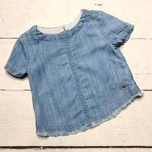 Vineyard Vines Distressed Chambray Top 3T